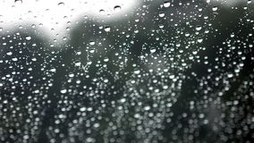 Regen op een venster stock videobeelden