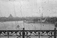 Regen op Glas Royalty-vrije Stock Afbeelding