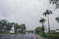 Regen op Glas Stock Fotografie