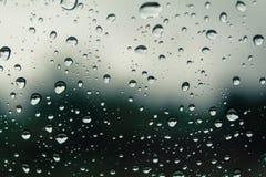 Regen op het glas royalty-vrije stock foto