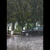 regen op het parkeerterrein Royalty-vrije Stock Afbeeldingen