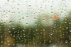 Regen op het Venster Stock Afbeelding