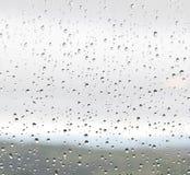 Regen op venster Stock Foto's