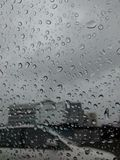 Regen op venster Royalty-vrije Stock Foto