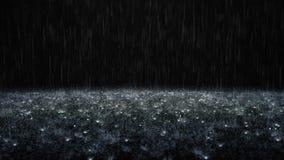 Regen op zwarte achtergrond vector illustratie