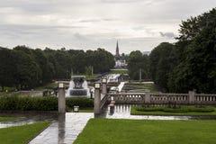 Regen in Oslo lizenzfreies stockfoto