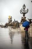 Regen in Parijs Stock Afbeelding