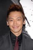 Regen Raizo bij de Première van Los Angeles van ?Moordenaar Ninja,? Chinees Theater, Hollywood, CA. 11-19-09 Stock Foto