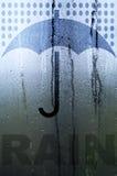 Regen und Regenschirm Lizenzfreie Stockfotos