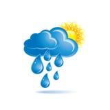 Regen und Sonne lizenzfreie abbildung
