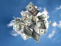 Regen van geld Royalty-vrije Stock Foto's