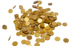 Regen van gouden muntstukken. Royalty-vrije Stock Foto's