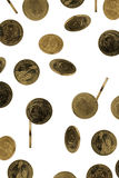 Regen van muntstukken Stock Foto