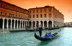 Regen in Venetië Stock Foto's
