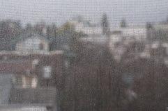 Regen vom Fenster Lizenzfreies Stockfoto