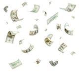 Regen von den Dollar Lizenzfreies Stockbild