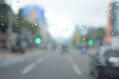 Regen in weg Stock Fotografie