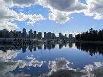 Regen-Wolken Vancouver stockfoto
