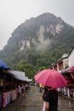 Regen in Yangshuo Stockfoto
