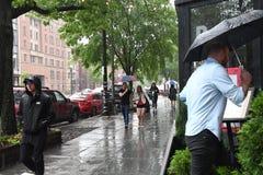 REGENACHTIG DAGweer IN HOOFDWashington DC stock foto's