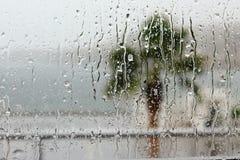 Regenachtig glas Stock Afbeelding