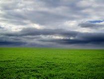 Regenachtig landschap Royalty-vrije Stock Afbeeldingen