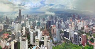 Regenachtig seizoen in Kuala Lumpur (Maleisië) Stock Afbeelding