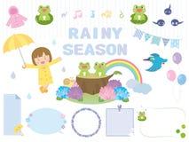 Regenachtig seizoen stock illustratie