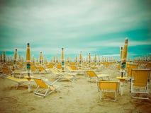 Regenachtig strandseizoen Stock Afbeelding