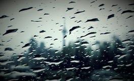 Regenachtig Toronto stock afbeelding