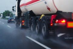 Regenachtig vrachtvervoer Royalty-vrije Stock Foto's