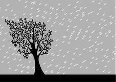 Regenachtige Achtergrond vector illustratie