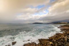Regenachtige Dag in Baiona - Galicië Royalty-vrije Stock Afbeelding