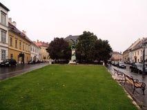 Regenachtige dag in Boedapest Stock Foto's