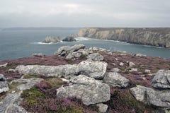 Regenachtige dag in Bretagne royalty-vrije stock foto's