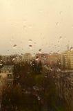 Regenachtige dag in de stad Stock Fotografie