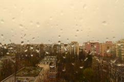 Regenachtige dag in de stad Royalty-vrije Stock Afbeeldingen