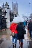 Regenachtige dag in Londen Royalty-vrije Stock Foto's