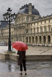 Regenachtige dag in Parijs Royalty-vrije Stock Fotografie