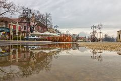 Regenachtige dag in Szentendre, Hongarije Royalty-vrije Stock Afbeeldingen