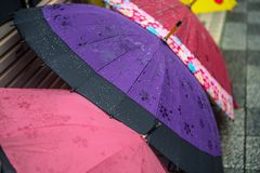 Regenachtige dag U wilt een paraplu royalty-vrije stock fotografie