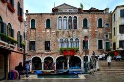 Regenachtige dag in Venetië Stock Afbeelding