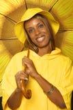 Regenachtige dagglimlach Royalty-vrije Stock Foto