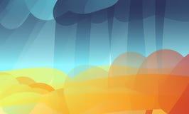 Regenachtige de herfstachtergrond van Ðbstract Stock Afbeelding