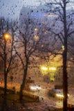 Regenachtige ochtend Stock Foto's