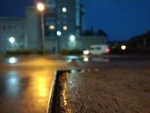 Regenachtige straat Royalty-vrije Stock Afbeeldingen