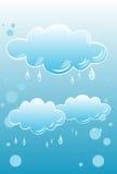 Regenachtige Wolken royalty-vrije illustratie