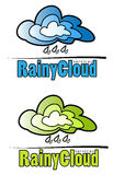 Regenachtige wolkentekens Royalty-vrije Stock Afbeeldingen