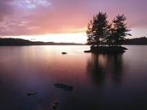 Regenachtige Zonsondergang Stock Afbeeldingen