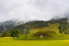 Regenbogen in Österreich Lizenzfreies Stockbild